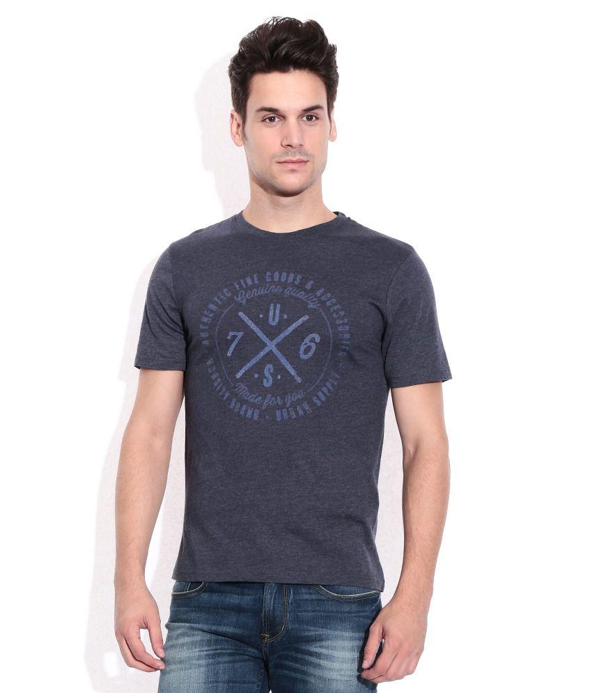 Celio Gray Round Neck T-Shirt