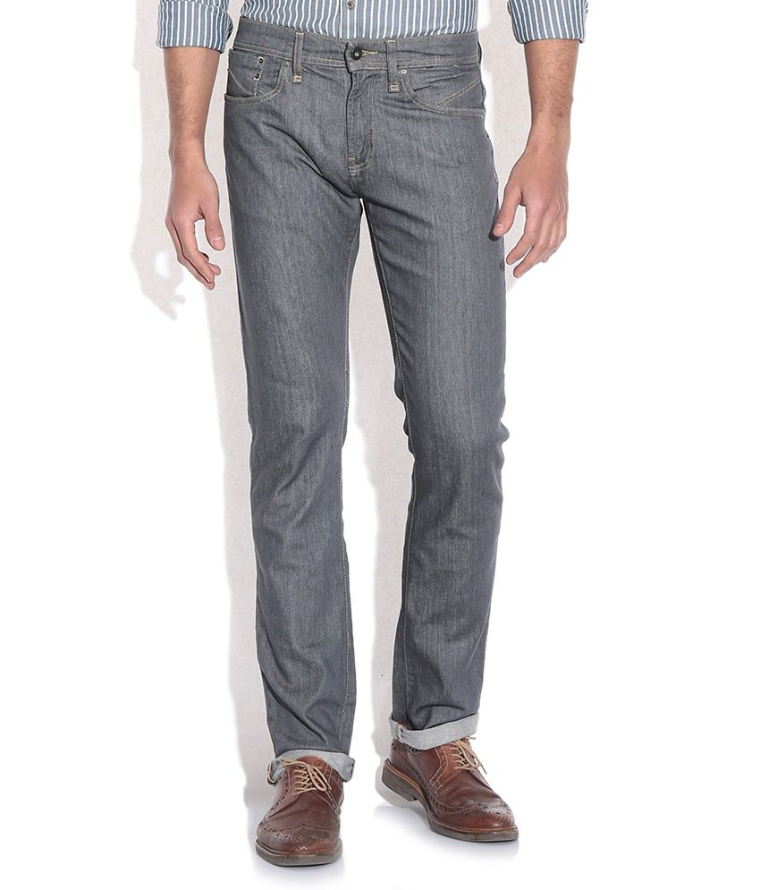 Celio Gray Slim Fit Jeans