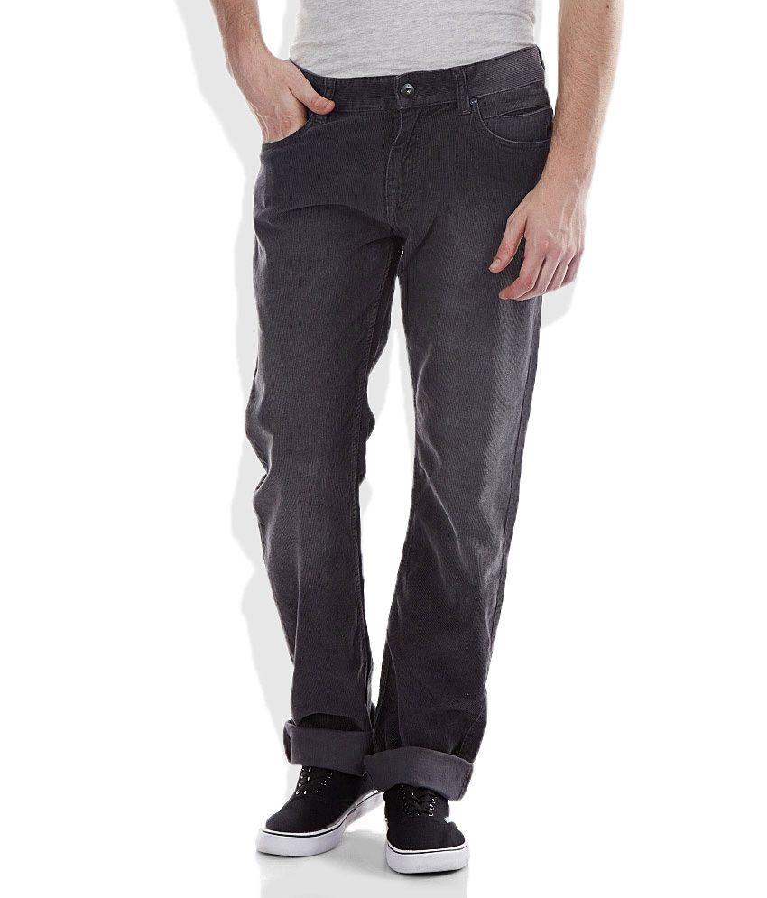Celio Gray Slim Fit Trousers