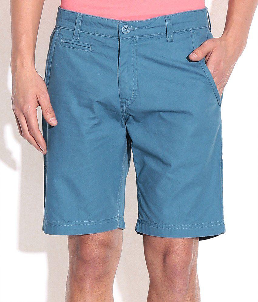 John Players Blue Cotton Short