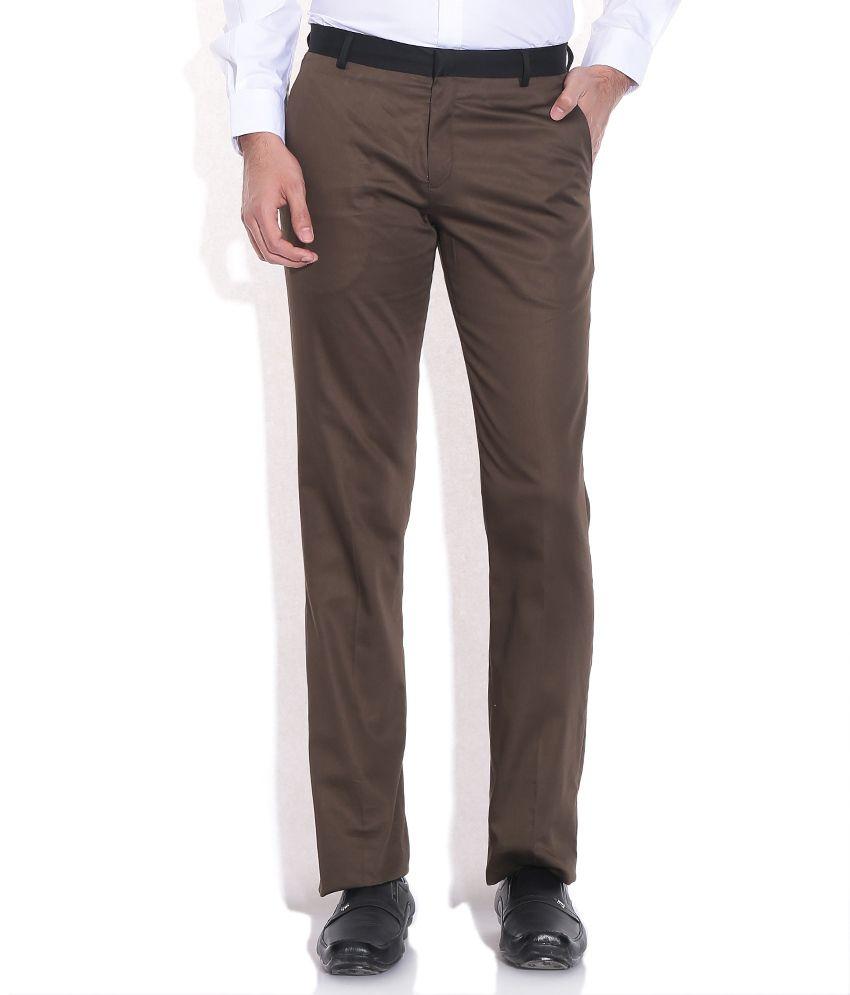 John Players Green Slim Fit Trouser