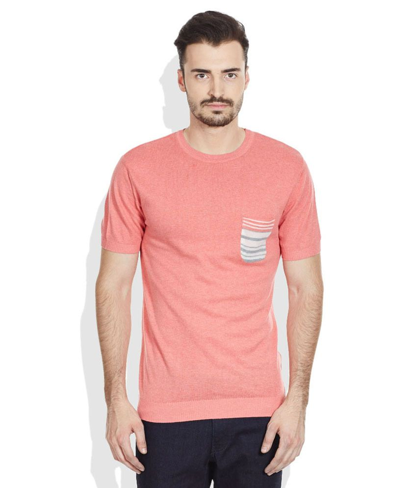 John Players Peachpuff Round Neck T Shirt