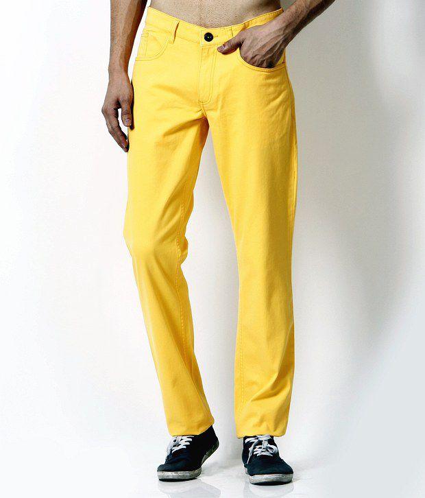 John Players Trendy Yellow Trousers