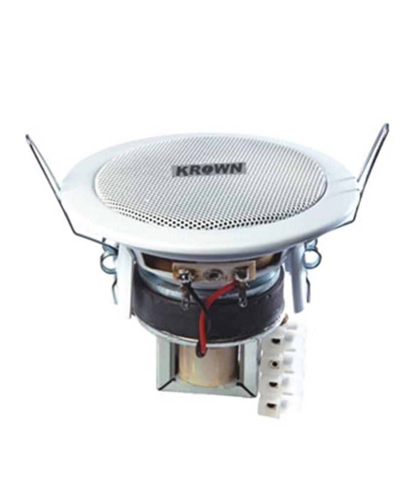 buy krown high quality ceiling speaker 4 inch with lmt online at best price in india snapdeal. Black Bedroom Furniture Sets. Home Design Ideas