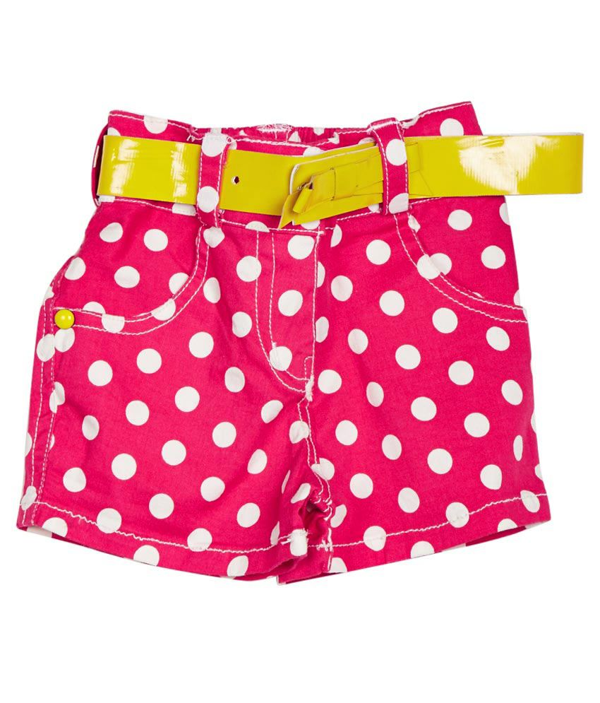 Little Kangaroos Pink Cotton Blend Shorts
