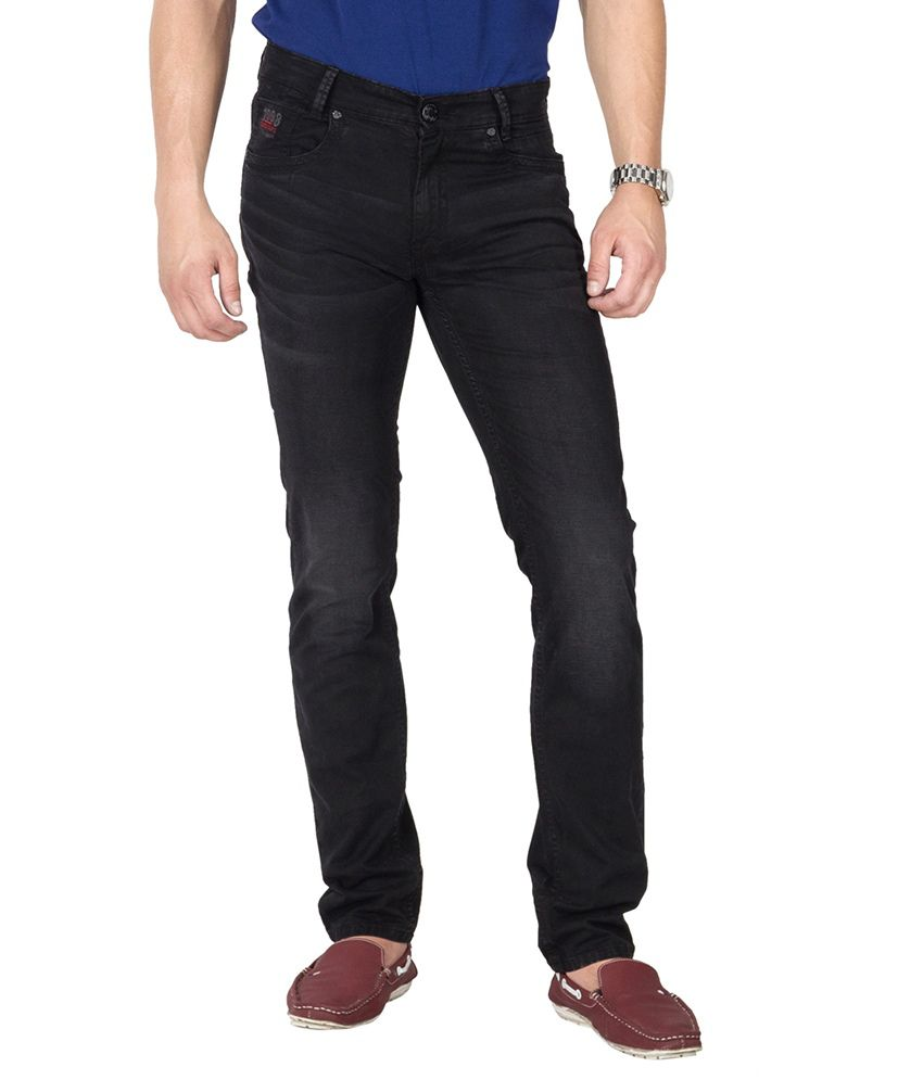 Mufti Black Tapered Fit Jeans