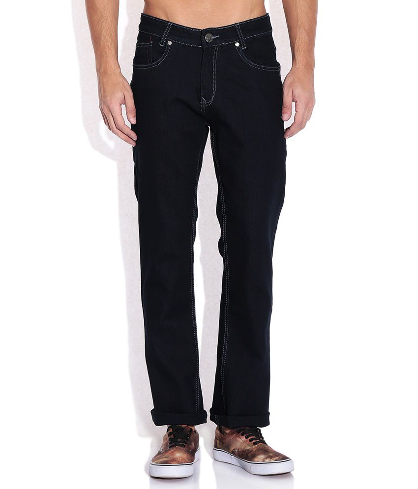 Mufti Navy Raw Denim Slim Fit Jeans