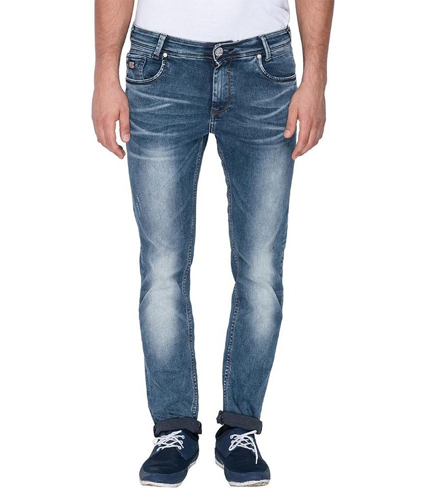 Mufti Blue Super Skinny Fit Jeans