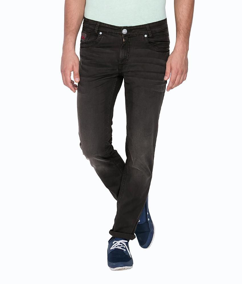Mufti Grey Regular Fit Jeans