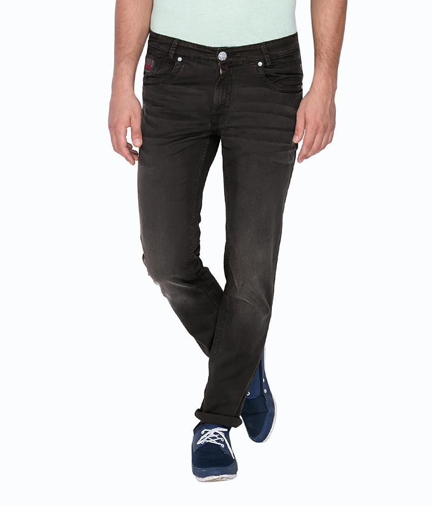 Mufti Black Regular Flat Trouser