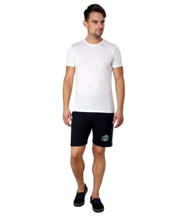 Style Guns Navy Cotton Shorts