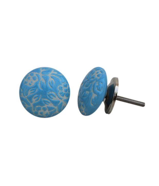 Buy indianshelf turquoise ceramic door handles knobs for Turquoise door knobs