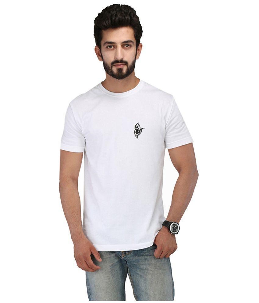 Rang Rage White Cotton T Shirt