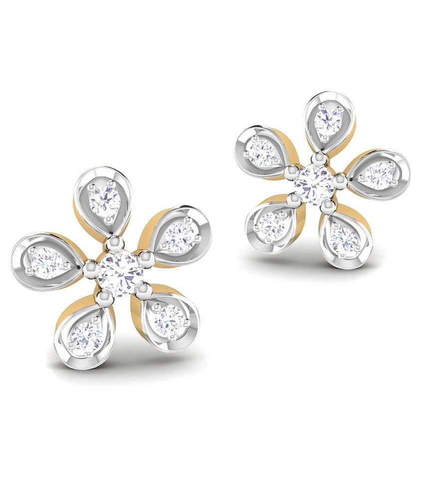 Caratstyle 18Kt Lilac Five Petal Earring