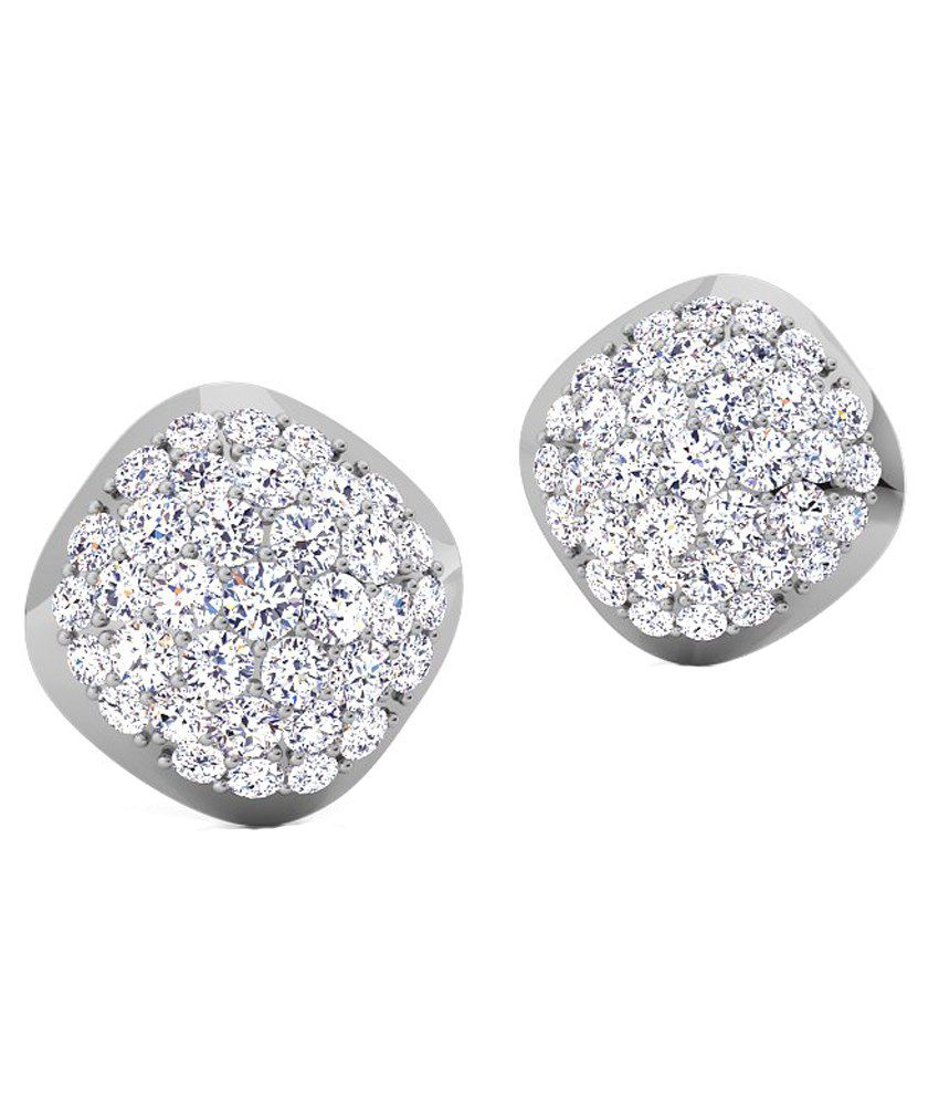 Caratstyle 18Kt Cushion Cluster Earring