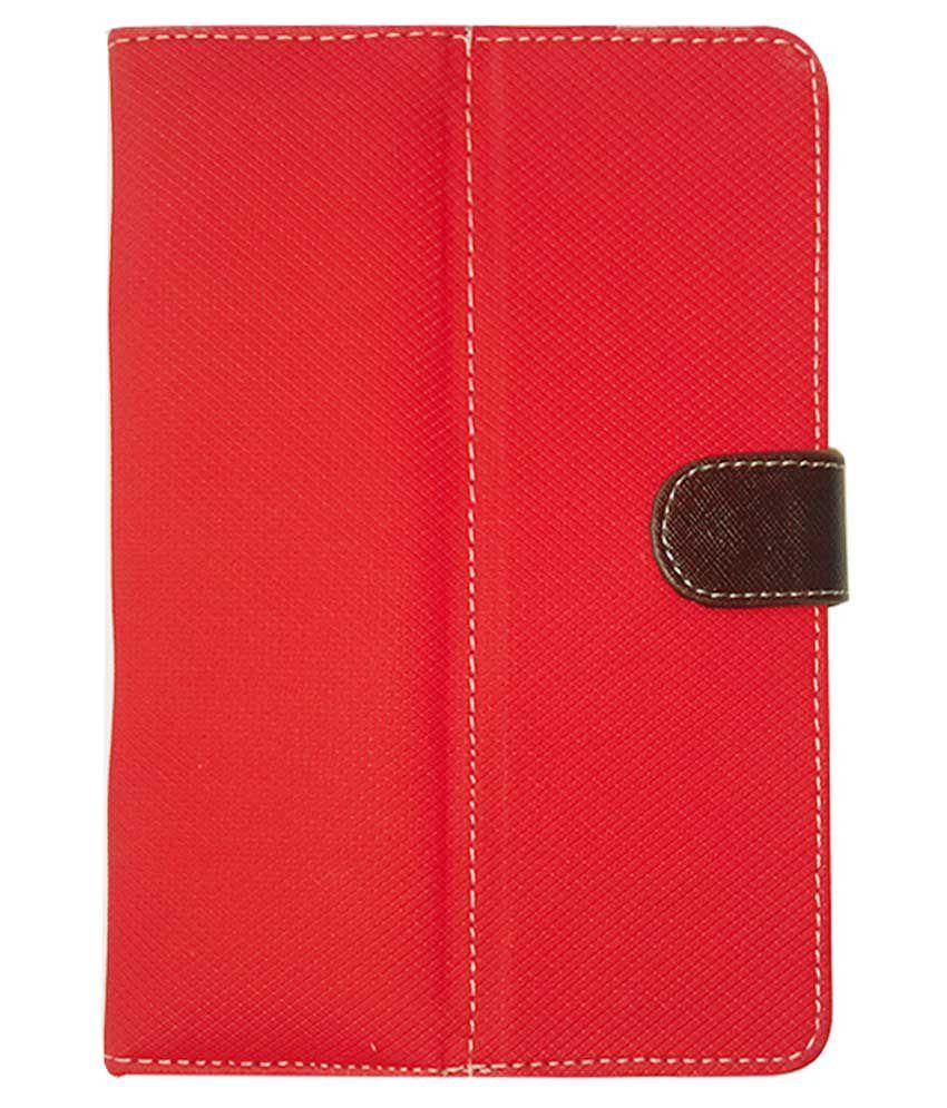 Kanu Red Flip Cover For iBall Slide 7334I