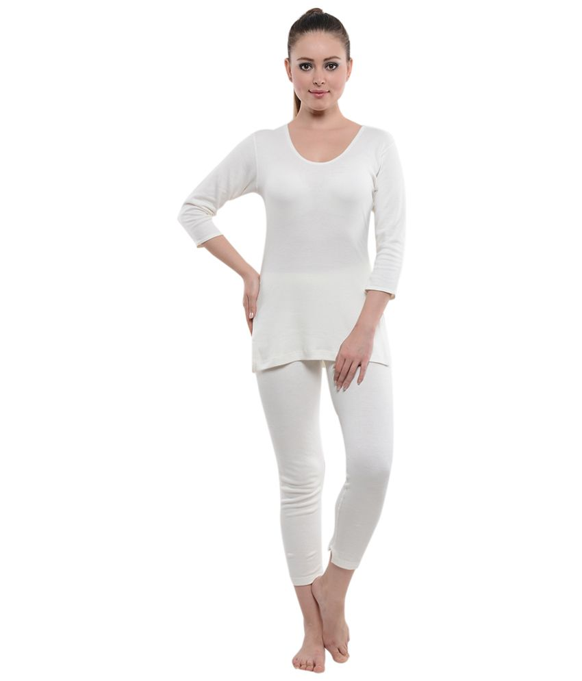 40422d4ec Buy New Step White Thermal Wear Online at Best Prices in India - Snapdeal