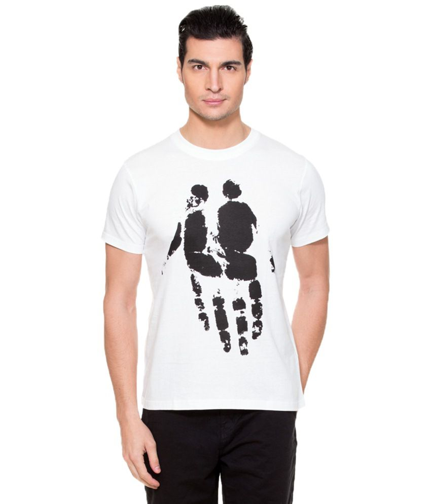 Zovi Together White Graphic T-shirt