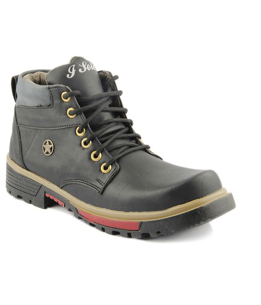 I Sole Smart Black Colored Boots