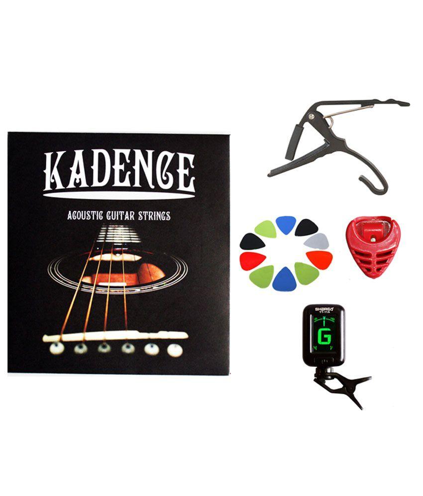 Kadence KAD-STR-10PCK-HLD-CAP-TUN Guitar String and Capo Combo