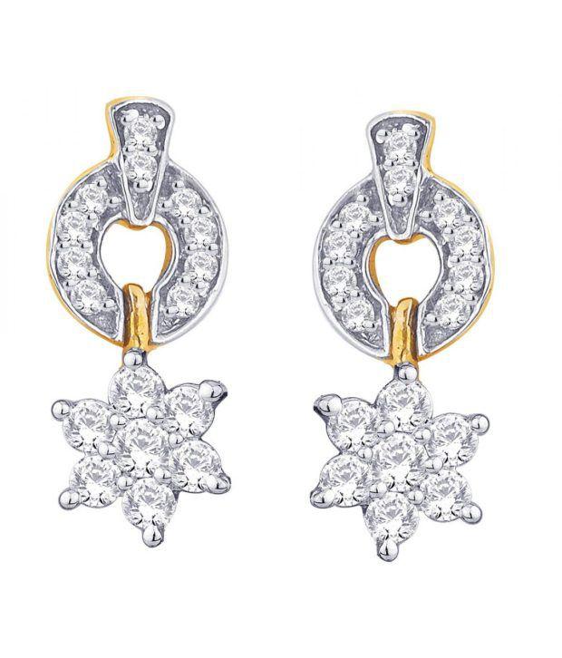 Nakshatra 18KT IGI Contemporary Diamond Stud Earrings