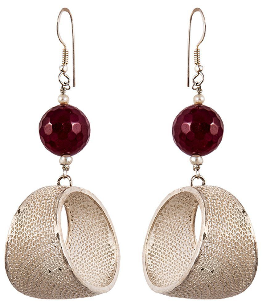 Samahita Sterling Silver 92.5 Sterling Silver Drop Earrings