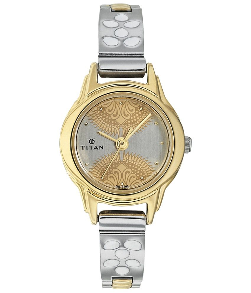 titan classique stunning gray amp silver wrist watch for