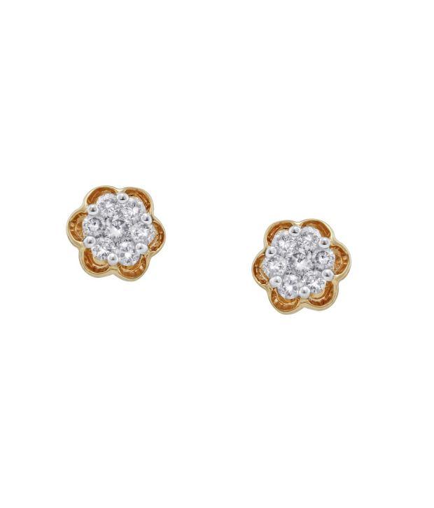 Viola 18kt Diamond IGI Contemporary Stud Earring