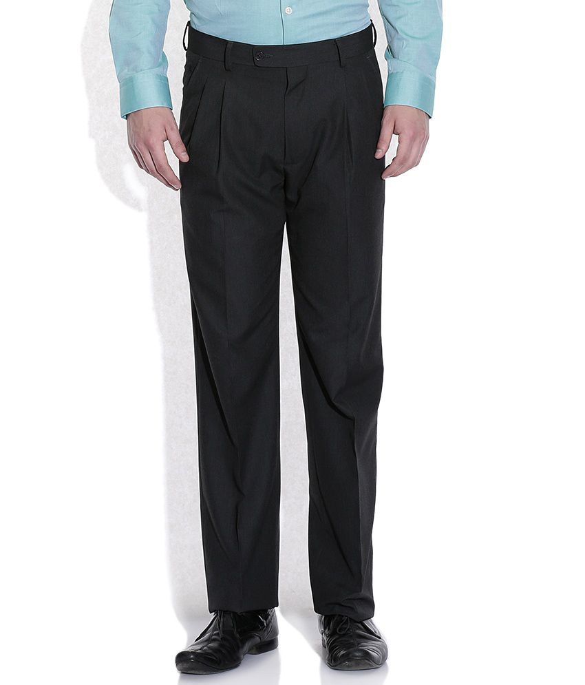 Arrow Gray Regular Fit Formal Trousers