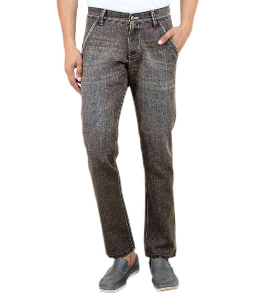 Uber Urban Green Cotton Hector Regular Jeans