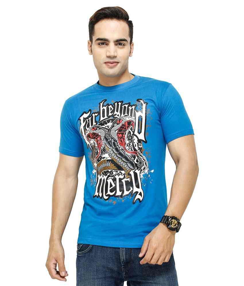 Yuva for men T Shirt Blue Far Beyond Mercy T-Shirt
