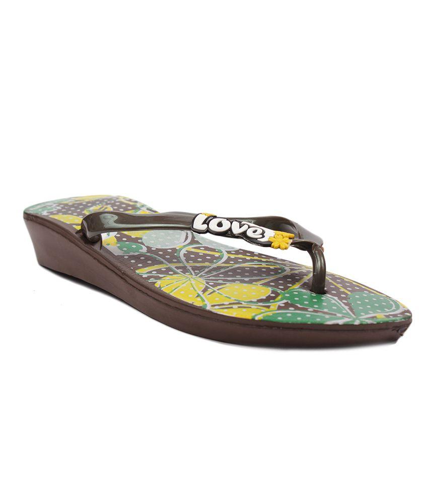 Aalishan Footwear Brown Low Heel Flat Slippers