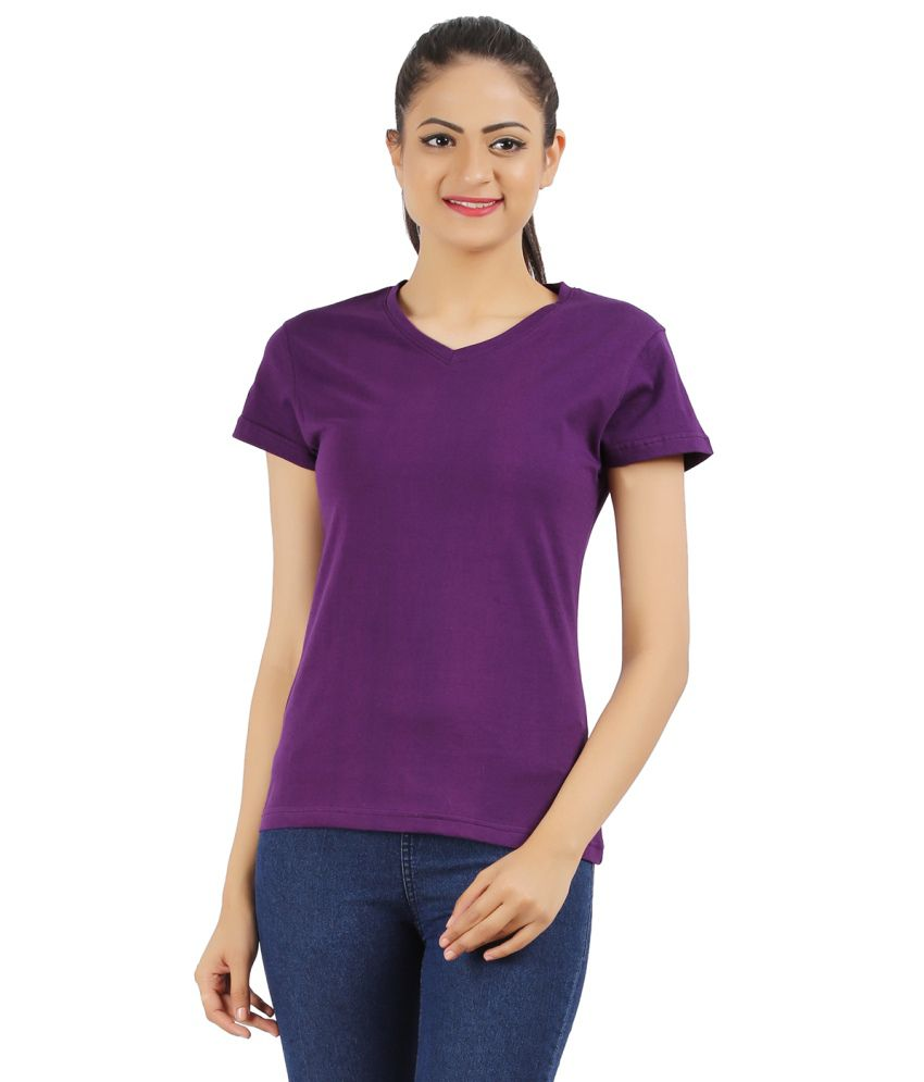 Ap'pulse Purple Cotton Tees