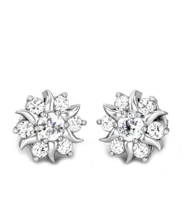 Candere Mudrika's White Gold 14K Diamond Earing