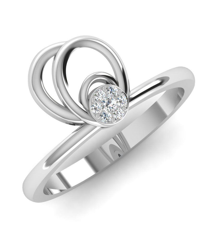 Caratify White 14kt Gold Diamond Xenos Ring