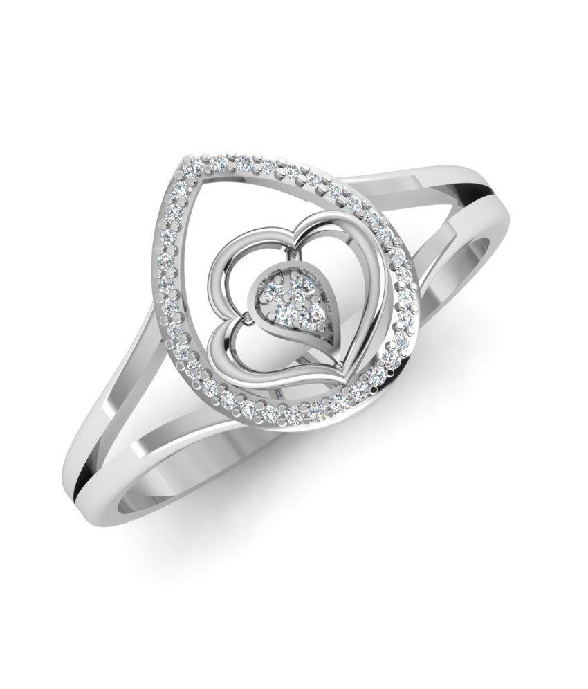 caratify white 14kt gold gevlene ring buy