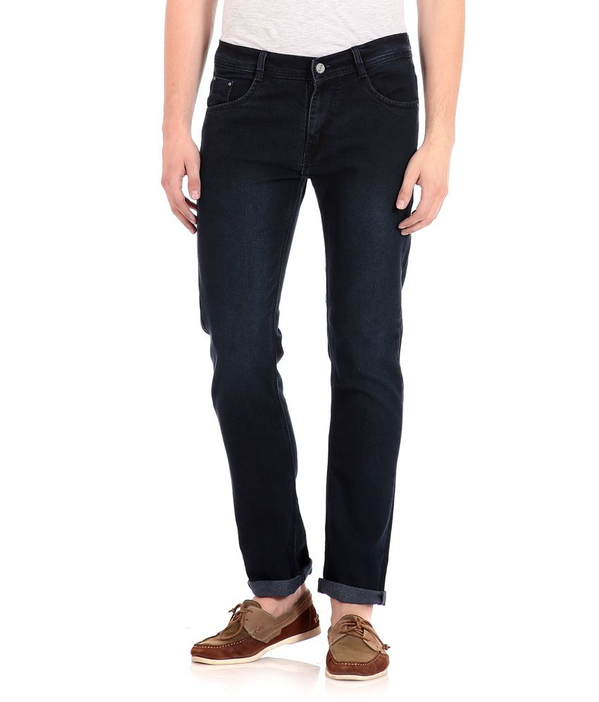 Flyjohn Blue Cotton Jeans