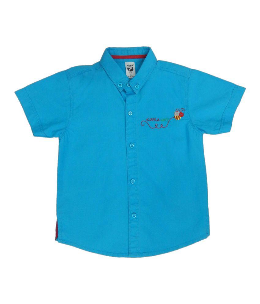 Kooka Kids Baby Boys Half Sleeves Regular Fit Shirt
