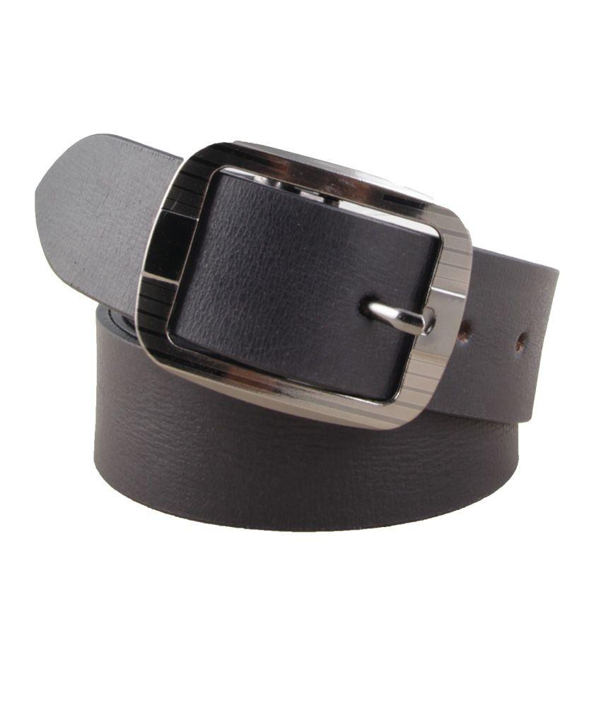 SK Black Formal Reversible Belt For Men