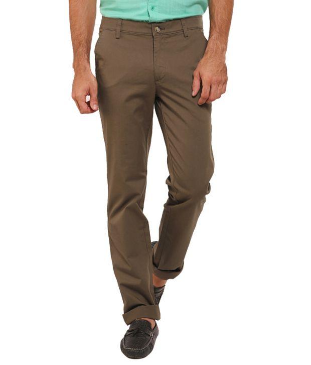 Classic Polo Cotton Lycra Slim Fit Formals Trouser