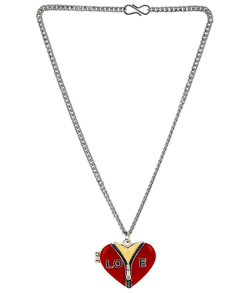 Bling N Beads Heart photo frame locket with chain: Buy Bling N Beads ...