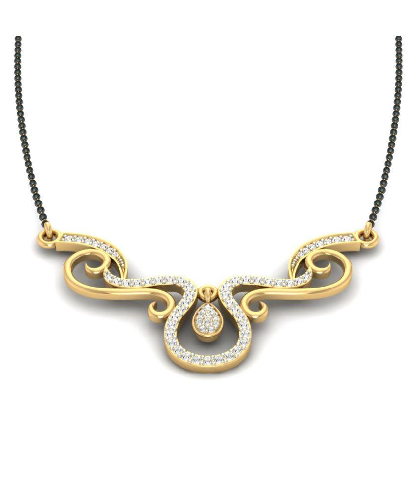 Jewels5 18kt Gold Diamond Amaya Mangalsutra