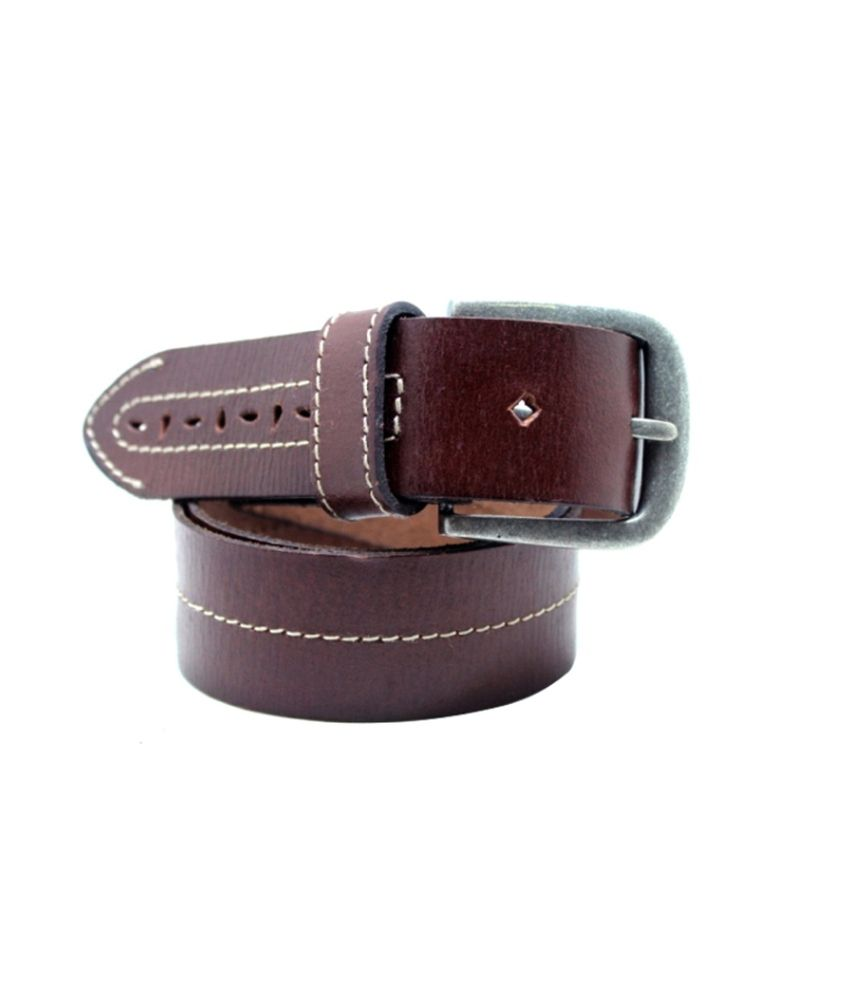 Lapalma Brown Leather Belt For Men