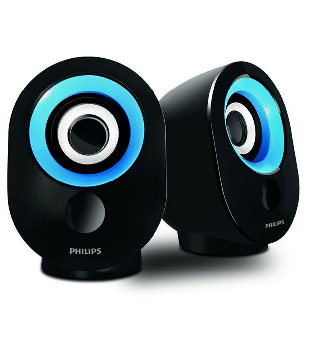Philips Usb Multimedia Speakers 2 Computer Speakers Blue