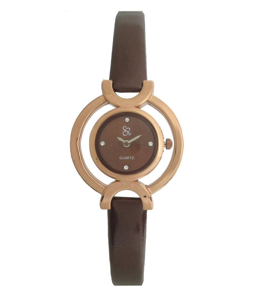 S R COLLECTION S R Collection Browen Leather Formal Analog Watch