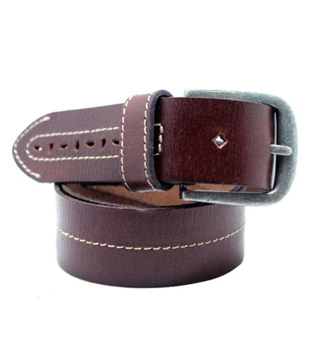 Urban Vintage Brown Leather Men Belt