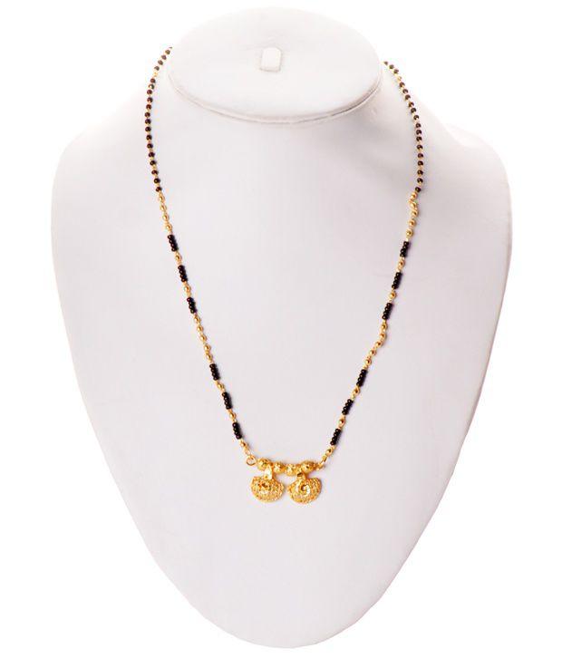 e7bd0c70bffcf Zakasdeals Black Beads Gold Chain Mangalsutra: Buy Zakasdeals Black ...