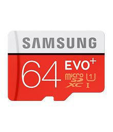 Samsung EVO Plus UHS-1 64GB MicroSDXC 95 MB/S Memory Card with SD Adapter