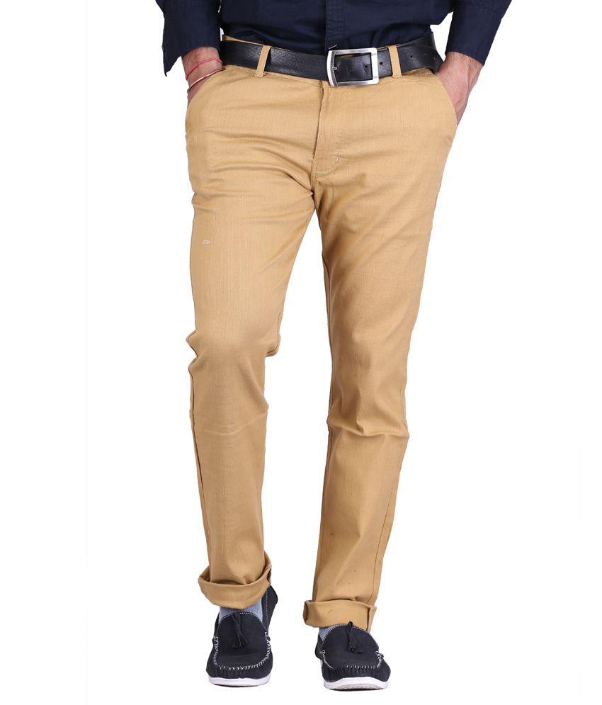 Ave Brown Regular Chinos Trouser