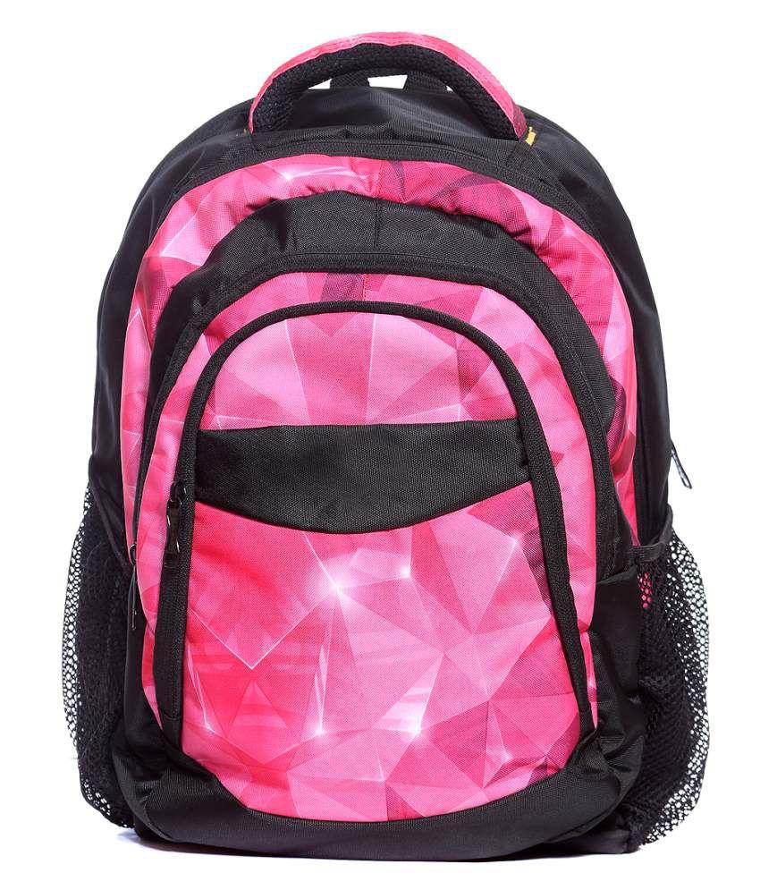 Raeen Plus Pink Polyester Backpacks